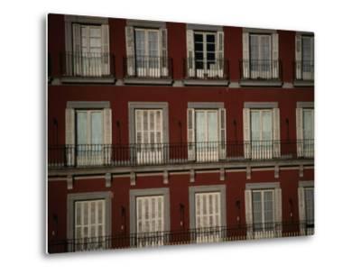 Balconies Overlooking Plaza Mayor, Madrid, Spain-Damien Simonis-Metal Print