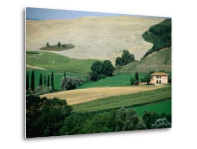 Tuscan Landscape Near San Gimignano, San Gimignano, Tuscany, Italy-Diana Mayfield-Metal Print