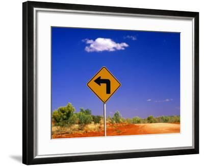 Road Sign Pointing to Rainbow Valley Road, Rainbow Valley Conservation Reserve, Australia-John Banagan-Framed Photographic Print