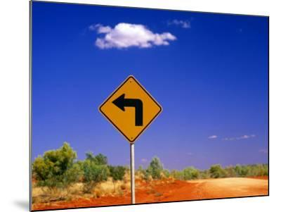 Road Sign Pointing to Rainbow Valley Road, Rainbow Valley Conservation Reserve, Australia-John Banagan-Mounted Photographic Print