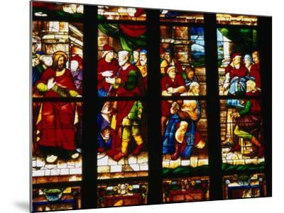 Stained-Glass Window at the Duomo, Milan, Lombardy, Italy-Setchfield Neil-Mounted Photographic Print