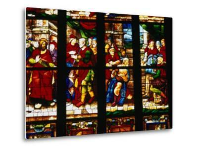 Stained-Glass Window at the Duomo, Milan, Lombardy, Italy-Setchfield Neil-Metal Print