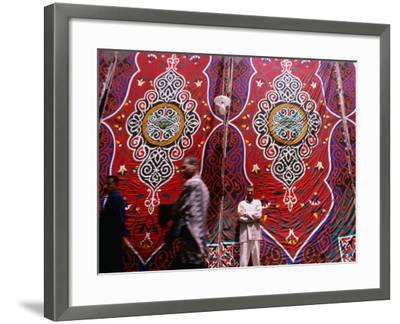Men Outside Tents in Souq Area of Islamic, Cairo, Egypt-Phil Weymouth-Framed Photographic Print