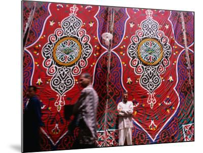 Men Outside Tents in Souq Area of Islamic, Cairo, Egypt-Phil Weymouth-Mounted Photographic Print