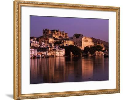 City Palace at Sunset, Udaipur, India-Dan Gair-Framed Photographic Print