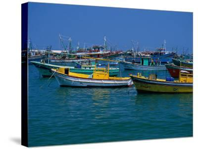 Colorful Fishing Boats, Alexandria, Egypt-Inga Spence-Stretched Canvas Print
