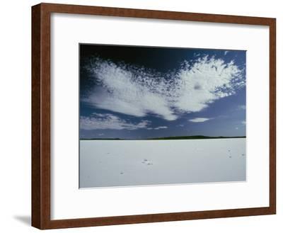 High Clouds Form Above the Dry Salt Lake-Jason Edwards-Framed Photographic Print