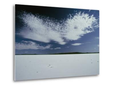 High Clouds Form Above the Dry Salt Lake-Jason Edwards-Metal Print