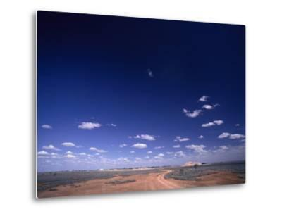 A Brilliant Sky and Clouds over the Flat Landscape-Jason Edwards-Metal Print