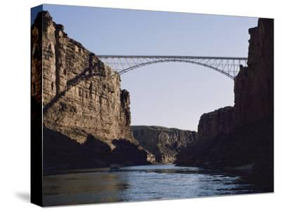 View of Navajo Bridge-W^ E^ Garrett-Stretched Canvas Print
