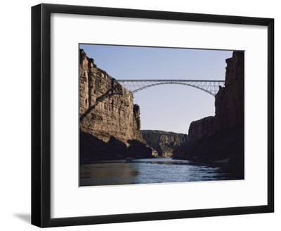 View of Navajo Bridge-W^ E^ Garrett-Framed Photographic Print