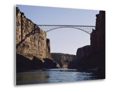 View of Navajo Bridge-W^ E^ Garrett-Metal Print