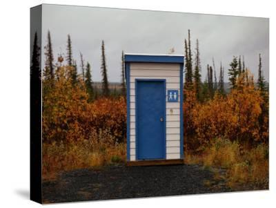 Outhouse in the Bush-Raymond Gehman-Stretched Canvas Print