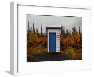 Outhouse in the Bush-Raymond Gehman-Framed Photographic Print