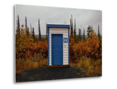 Outhouse in the Bush-Raymond Gehman-Metal Print