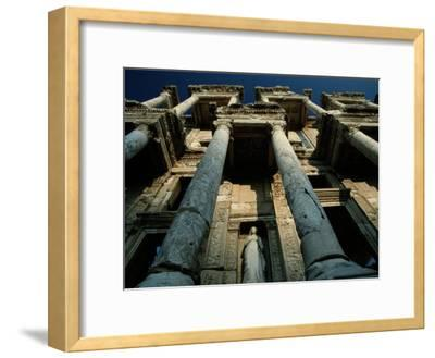 Ruined Facade of the Library of Celsus in Ephesus-James L^ Stanfield-Framed Photographic Print