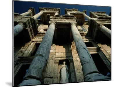 Ruined Facade of the Library of Celsus in Ephesus-James L^ Stanfield-Mounted Photographic Print