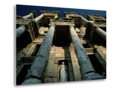 Ruined Facade of the Library of Celsus in Ephesus-James L^ Stanfield-Metal Print