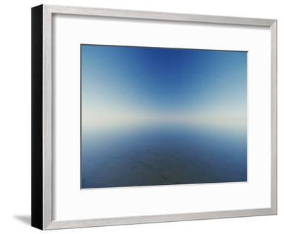 Reflection of Flooded Lake Eyre at Dawn-Jason Edwards-Framed Photographic Print