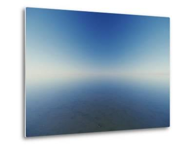 Reflection of Flooded Lake Eyre at Dawn-Jason Edwards-Metal Print