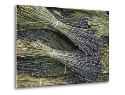 Sprigs of Lavender, Provence Region, France-Nicole Duplaix-Metal Print