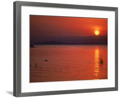Sunset Over Water, Kenya-Mitch Diamond-Framed Photographic Print