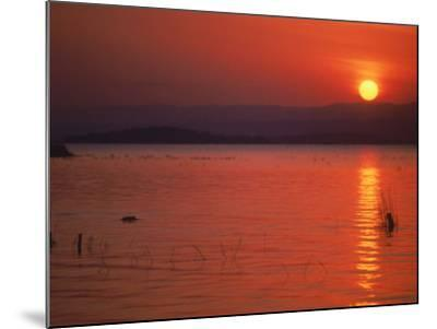 Sunset Over Water, Kenya-Mitch Diamond-Mounted Photographic Print