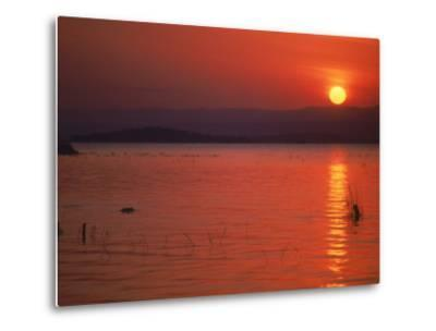 Sunset Over Water, Kenya-Mitch Diamond-Metal Print
