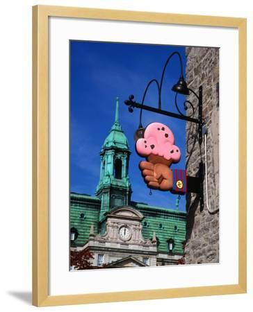 Feature of Building, Montreal, Canada-Wayne Walton-Framed Photographic Print