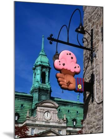 Feature of Building, Montreal, Canada-Wayne Walton-Mounted Photographic Print