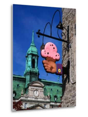 Feature of Building, Montreal, Canada-Wayne Walton-Metal Print