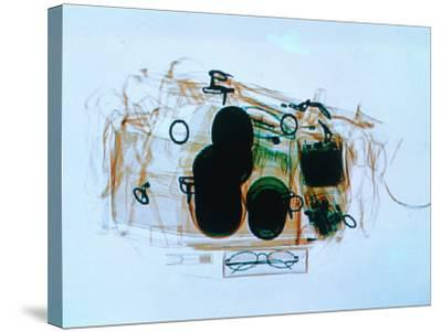 X-Ray of Cabin Luggage at Sydney Airport, Sydney, Australia-Oliver Strewe-Stretched Canvas Print