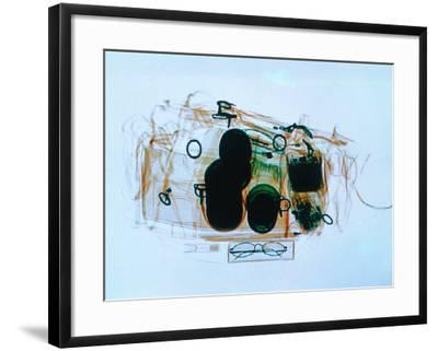 X-Ray of Cabin Luggage at Sydney Airport, Sydney, Australia-Oliver Strewe-Framed Photographic Print