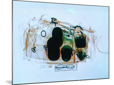 X-Ray of Cabin Luggage at Sydney Airport, Sydney, Australia-Oliver Strewe-Mounted Photographic Print