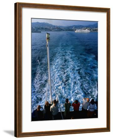 Passengers on Deck of Ferry Travelling from Sardinia to Genova, Sardinia, Italy-Dallas Stribley-Framed Photographic Print