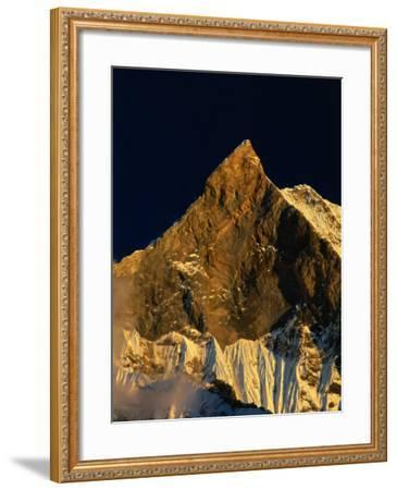 Machhapuchhare's West Face Glowing in the Sunset,Gandaki, Nepal-Anders Blomqvist-Framed Photographic Print