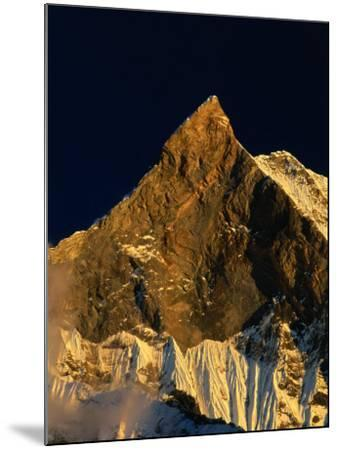 Machhapuchhare's West Face Glowing in the Sunset,Gandaki, Nepal-Anders Blomqvist-Mounted Photographic Print