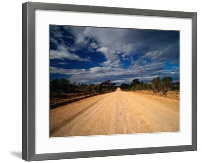 Unsealed Outback Road, Mungo National Park, New South Wales, Australia-Richard I'Anson-Framed Photographic Print