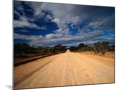 Unsealed Outback Road, Mungo National Park, New South Wales, Australia-Richard I'Anson-Mounted Photographic Print