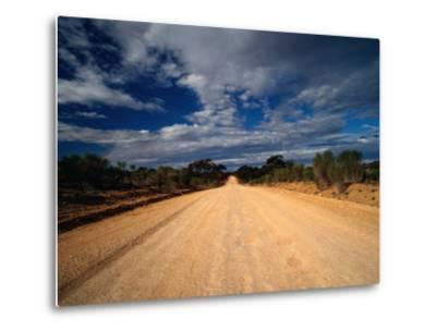 Unsealed Outback Road, Mungo National Park, New South Wales, Australia-Richard I'Anson-Metal Print