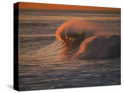 Breaking Surf at Sunset in La Jolla-Tim Laman-Stretched Canvas Print