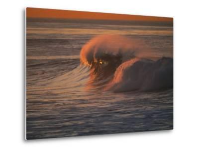Breaking Surf at Sunset in La Jolla-Tim Laman-Metal Print