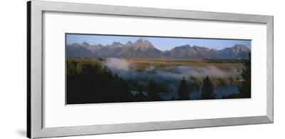 Snake River and the Tetons at Sunrise-Michael S^ Lewis-Framed Photographic Print