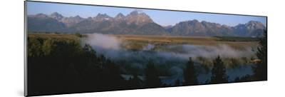 Snake River and the Tetons at Sunrise-Michael S^ Lewis-Mounted Photographic Print