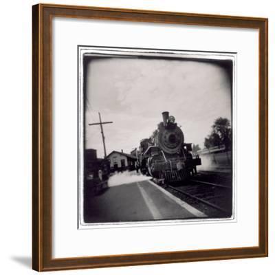 Train Pulling Into Station-John Glembin-Framed Photographic Print