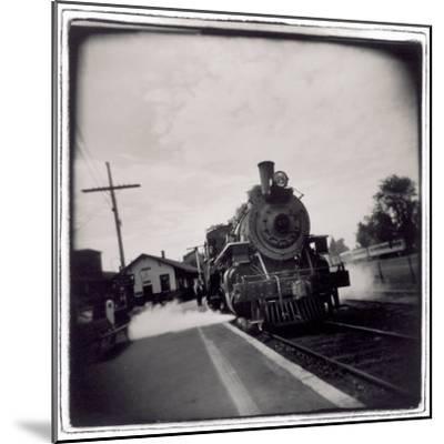 Train Pulling Into Station-John Glembin-Mounted Photographic Print