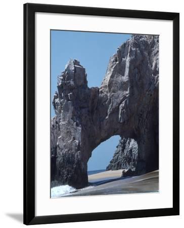 Giant Rock Formation on Beach-Pat Canova-Framed Photographic Print