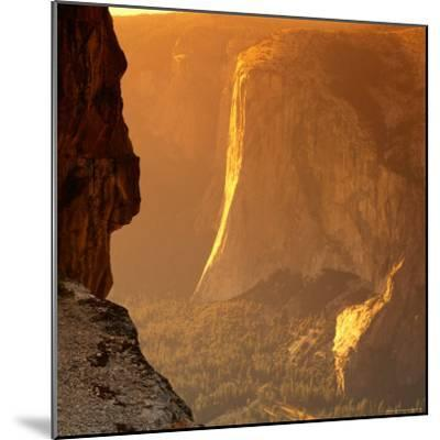 El Capitan at Sunset, Yosemite National Park, USA-Wes Walker-Mounted Photographic Print