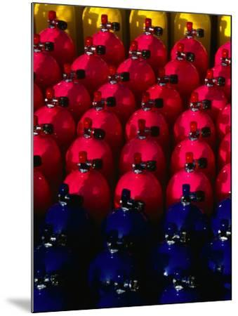 Rows of Scuba Tanks at Club Med, Columbus Isle, Bahamas-Michael Lawrence-Mounted Photographic Print