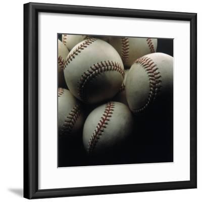 Still Life of Baseballs-Howard Sokol-Framed Photographic Print
